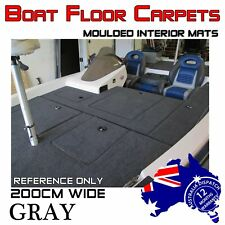 2M Wide X 3M Do-It-Yourself Boat Carpet Bass Marine Underlay Floor Remedy Grey