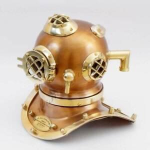 Antique Maritime US Navy Copper Brass Vintage Morse Diving Helmet Collectibles