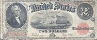 USA 1917 Banknote 2 Dollar Large Size United States Note Schein US Two $ #24304