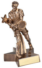 Tennis Male Gold Resin Trophy Award Free Engraving Fast Shipping
