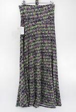 Lularoe NWT Maxi Skirt Greeen, Pink & Purple Pattern Size Small