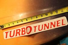 Turbo Tunnel Surfboard Fins Rare 90's Clear V9 Vintage Surfing STICKER (Folded)