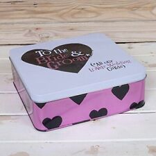 Wedding Storage Tin Box -To The Bride & Groom Storage Container The Bright Side