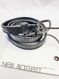 NEIL BARRETT black skinny belt NEW with tags size 10