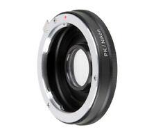 Objektivadapter für Pentax PK-Objektiv an Nikon Kamera, mit Korrektur Linse