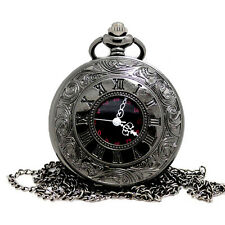 Vintage Steampunk Retro Bronze Quartz Necklace Pendant Pocket Watch Unusual