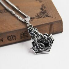 Necklace Assassins Creed Syndicate Logo Pendant Game Silver Chain Gift