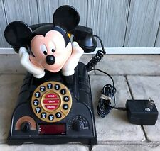 Disney Mickey Mouse Talking Telephone Alarm Clock Radio Vintage