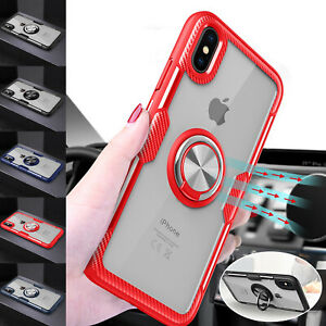 Magnetic Finger Ring Phone Case For iPhone XS Max XR 6 7 8 Samsung Huawei Xiaomi