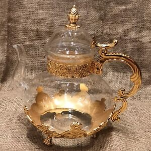 Glass High Luxery Gold color  , tea pots high value Luxury Best Solid Gİft