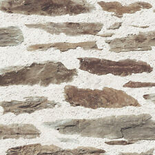 Realistic Old Stone Wall Effect Heavyweight Vinyl Feature Wallpaper J98707