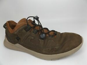KEEN Highland Comfort Shoes Men's Size 14.0 M, Dark Olive-Taupe Leather,  20473