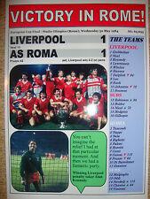 Liverpool 1 AS Roma 1 - 1984 European Cup final - souvenir print