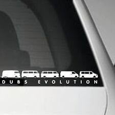 DUBS EVOLUTION VW VOLKSWAGEN CAMPERVAN STICKER JAP JDM STREET VW VAG EURO