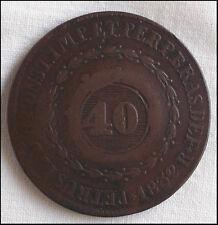 Brazil Coin K446 40 Reis 1832  Rare
