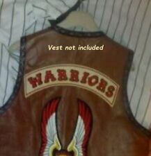 FANCY DRESS HALLOWEEN PARTY MOVIE PROP New York GANG Iron-on 2-PATCH: WARRIORS