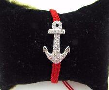 Anchor Macrame Bracelet Cubic Zirconia US Seller Fast Shipping!!!