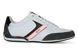 Hugo BOSS Saturn_Lowp_mx Men's Lace-up Sneakers Open White 50407672 126