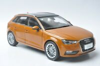 Audi A3 sportback car model in scale 1:18 orange