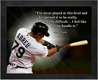 "Jose Abreu Chicago White Sox MLB Pro Quotes Photo (Size: 9"" x 11"") Framed"