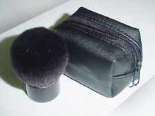 Cosmetic Black Kabuki Brush Case Black pouch Synthetic Fiber Carry Easy new
