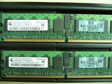 QTY 1x 4GB PC2-3200R DDR2 400MHz ECC Registered Memory HP P/N 345115-061