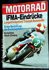 DAS MOTORRAD 20-72+TRIUMPH BONNEVILLE 650+MOTOBÈCANE+IFMA+BOSCH-ZÜNDUNG