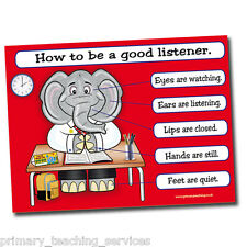 DP22 - A1 How to be a Good Listener Classroom Poster