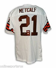 Eric Metcalf Autographed Throwback Jersey Cleveland Browns