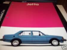 Volkswagon Jetta Brochure 1982