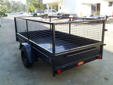 Box  Trailer  9X5 FT WITH CAGE GOATS FARM SHEEP DOGS MANY USES