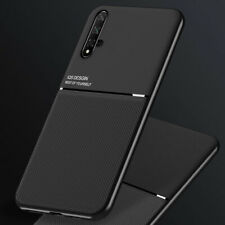 For Huawei Nova 5T Magnetic Metal Leather Case Cover