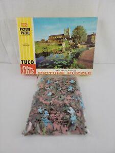Vtg TUCO Elite Jigsaw Puzzle Waltham Abbey Essex England 500+ Tripl-Thick Pieces