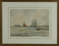 Aubrey Ramus - Early 20th Century Watercolour, Ships at Sea