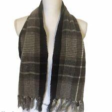 Pierre Cardin muffler scarf Brown Black Mens