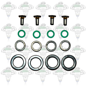 Honda Keihin Early Type 2 Petrol Fuel Injector Seals & Filters 4 Cylinder-Kit 14