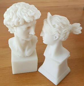 A Beautiful Pair of Pure White Greek Style Sculpture Busts
