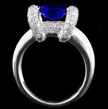 2.21 CT DIAMOND  SAPPHIRE RING IN 18 K WHITE GOLD