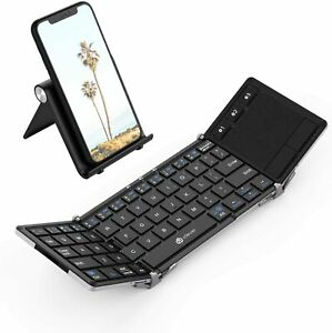 iClever BK08 Bluetooth Keyboard with Sensitive Touchpad (Sync Up to 3 Devices)