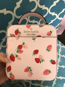 Kate Spade daisy strawberries crossbody Pink Multi $249