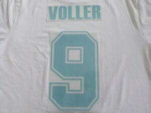 Flocage VOLLER n°9 - OM  MARSEILLE en feutrine Années 90  maillot France Patch