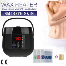 Black Led Warmer Handle Pot Waxing Heater Hair Removal Machine+4 Bag Beans Set