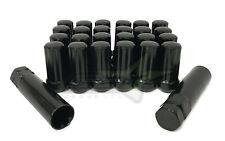 20 Black Spline Lug Nuts 9/16 Fits Dodge Ram 1500 Dakota Durango + Security Key!