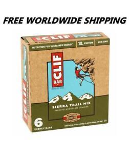 Clif Bar Sierra Trail Mix Energy Granola Bars 6 Ct WORLDWIDE SHIPPING