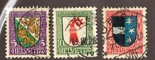 SWITZERLAND   #B37-39   USED   (1602014)