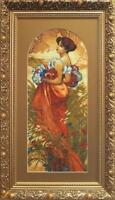 EMBROIDERY KIT COUNTED CROSS STITCH KIT CHARIVNA MIT SUMMER BEAUTY WOMAN 533