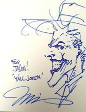 The Joker by Jim Lee - DC Comics Headsketch - Signed Sketch / Original Art