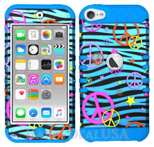 For Apple iPod Touch iTouch 5 | 6 - KoolKase Hybrid Cover Case Peace Zebra Blue