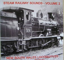 Train sound CD - Steam Railway Sounds Vol 2 - NSW Locomotives. Post free in Aust