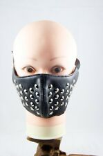 Punk Gothic Rock Rivets Half Face Mask Biker Motorcycle Accessory Unisex Leather